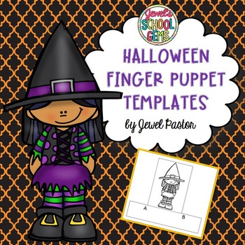 Halloween Crafts Activities (Finger Puppets)