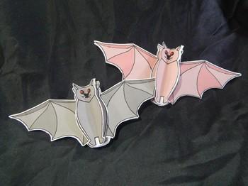 Halloween Crafts: 3D Bats Craft Activity Packet Bundle