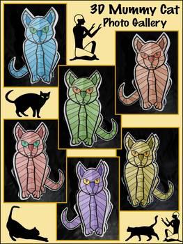 Halloween Crafts: 3D Egyptian Mummy Cat Halloween Activity Packet Bundle