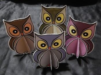 Halloween Crafts: 3D Owls Craft Activity Packet Bundle