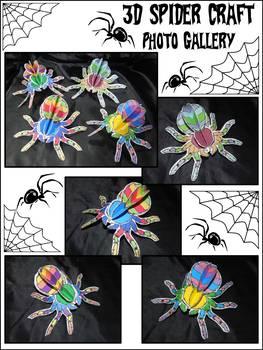 Halloween Crafts: 3D Spiders Craft Activity Packet Bundle