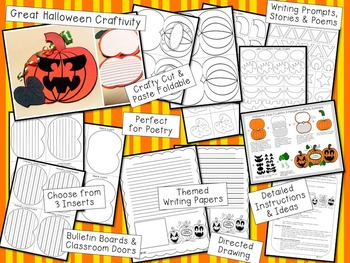 Halloween Crafts, Activities and Writing Prompts - Jack-O-Lantern / Pumpkin