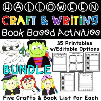 Halloween Crafts & Editable Read Aloud Writing Activities / October