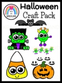 Halloween Crafts Value Pack: Bat,Jack-O-Lantern,Candy,Witc
