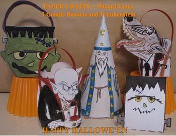 Hallowe'en Crafts - Wizard, Goodie Baskets, Small Frankie decoration & Cards