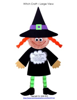 Halloween Crafts and Craftivities: Ghost, Witch and Candy Corn Hat