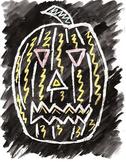 Halloween Crayon Resist Jack-O-Lanterns
