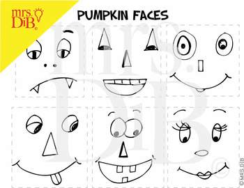 Halloween Create A Pumpkin Face ** ORIGINAL ARTWORK