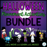 Halloween Creative Movement with Scarves and Monster Movement Cards
