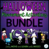 Halloween Movement, Freeze Dance, Bean Bag and Scarf Activities Bundle
