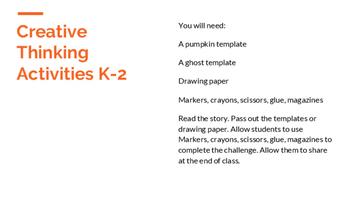 Halloween Creative Thinking