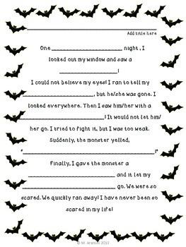Halloween Creative Writing Activity