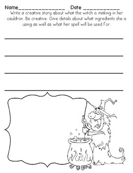 Halloween Creative Writing Freebie plus Label a Scene
