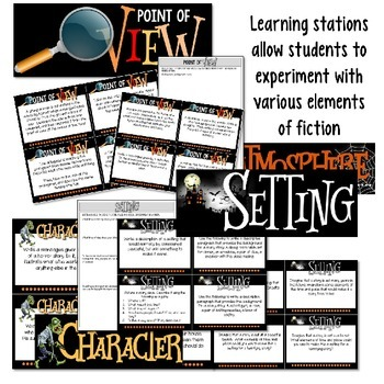 Halloween Creative Writing & Learning Stations