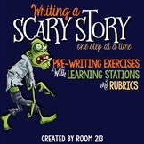 Halloween Creative Writing & Learning Stations (with dista