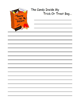 Halloween Creative Writing Pages