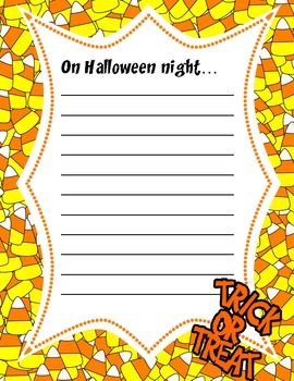 Halloween Creative Writing Paper
