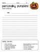 Halloween Creative Writing ~ Personality Pumpkins