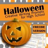 Halloween Creative Writing Task Cards FREEBIE