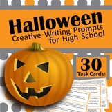 Halloween Creative Writing Task Cards for High School
