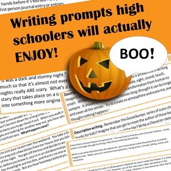 descriptive writing prompts high school