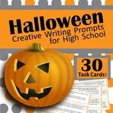 Halloween Creative Writing Task Cards for High School