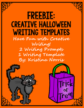 Halloween Creative Writing Template {FREEBIE}