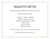 Halloween Creative Writing