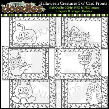 Halloween Creatures 5x7 Card Fronts