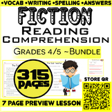 Fiction Reading Passages & Questions | Bundle | 315 Pages