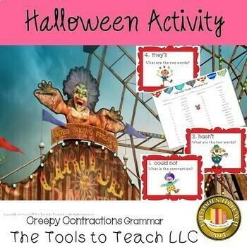 Halloween Creepy Clown Contractions Grammar