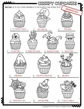 Halloween Creepy Cupcake Dichotomous Keys
