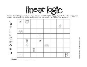 Halloween Critical Thinking Logic Puzzles