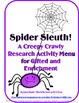 Halloween 4-in-1 Critical and Creative Thinking Bundle for Gifted and Enrichment