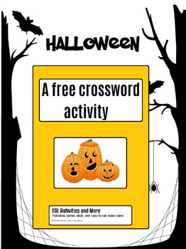 Halloween free - Crossword Activity