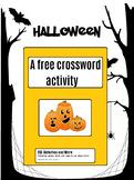 Halloween free - Crossword Activity