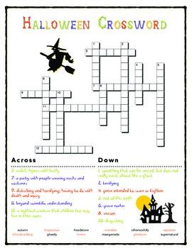 Halloween Crossword (5th / 6th)