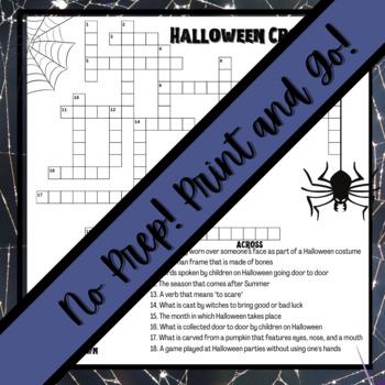 Halloween Activity: Crossword Puzzle