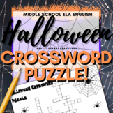 Halloween Activity: Crossword Puzzle