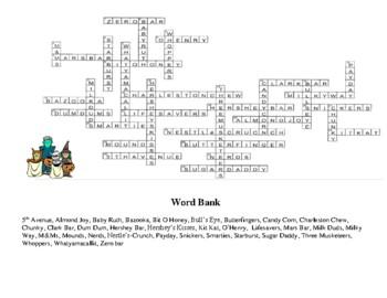 Halloween Crossword Puzzle - Candy