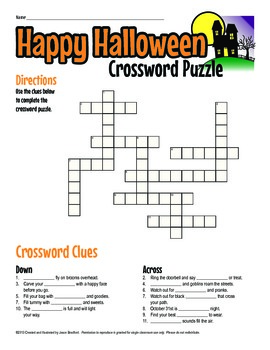 image about Halloween Word Search Puzzle Printable named Halloween Crossword Puzzle Printable Video game