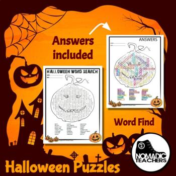 Halloween Crossword and Word Search