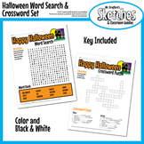 Halloween Crossword and Word Search Printable Set