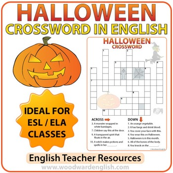 Halloween Crossword in English