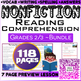 NonFiction Reading Comprehension Passages & Questions | Bundle | Grade 2-3