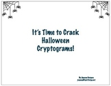 Halloween Cryptograms! Can You Crack the Code?