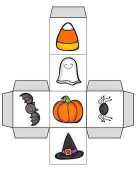 Halloween Cube Roll Math Game
