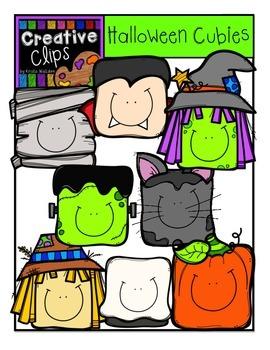 Halloween Cubies {Creative Clips Digital Clipart}