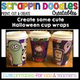 Halloween Cup Wraps Printable Craft {Scrappin Doodles}
