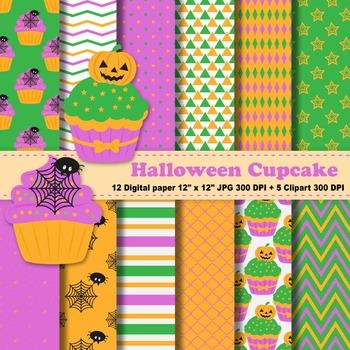 Halloween Cupcake + Clipart
